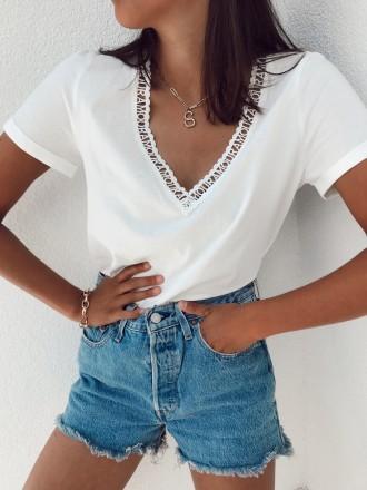 T shirt brodé AMOUR blanc
