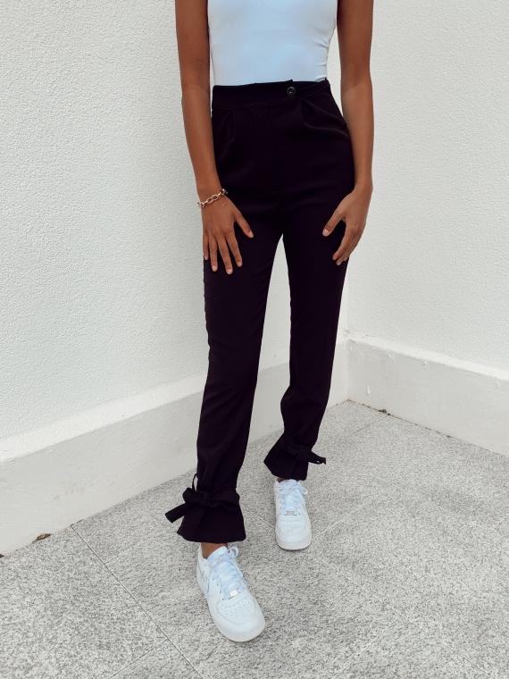 Pantalon noué PONY noir