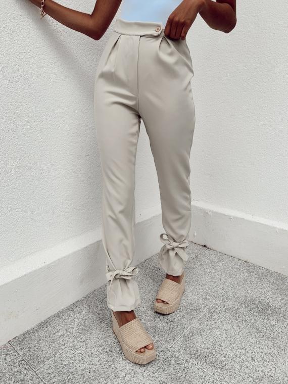 Pantalon noué PONY beige