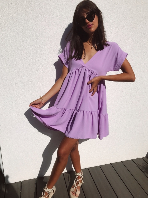 Robe FALLON lilas