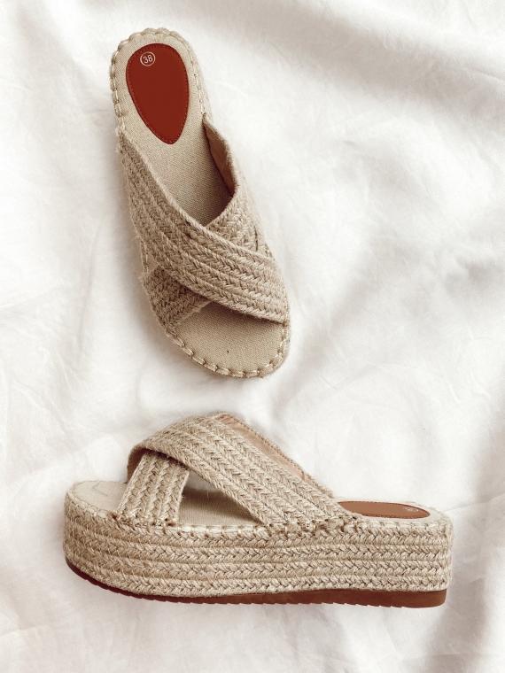 Sandales plates compensées STONE