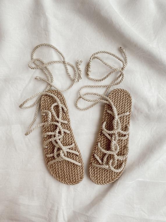 Sandales cordons WORD