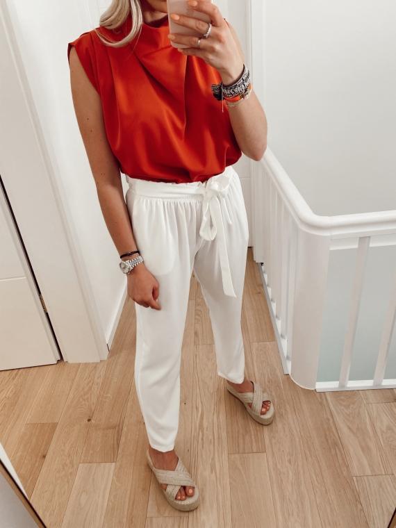 White ORAN flowing pants
