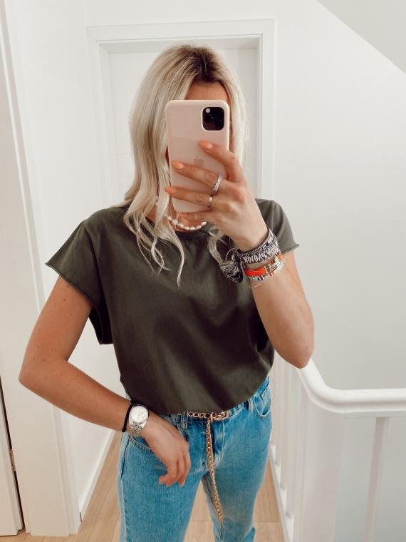 Khaki GLANCE basic t-shirt