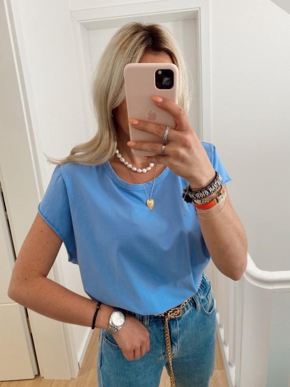 Blue sky GLANCE basic t-shirt