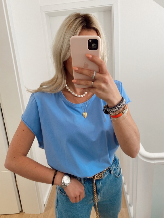 T shirt basique GLANCE bleu ciel