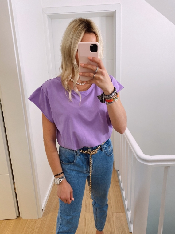 Lilac GLANCE basic t-shirt