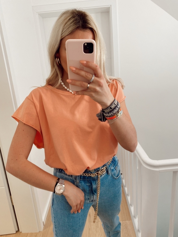 Orange GLANCE basic t-shirt