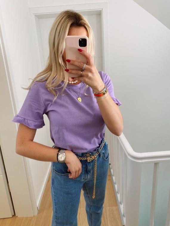 T-shirt basique POLKA lilas