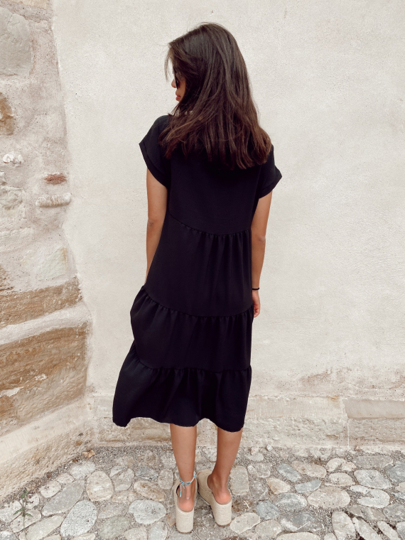 Robe longue CRYSTAL noire
