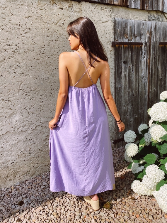 Robe dos croisé BLUM lilas