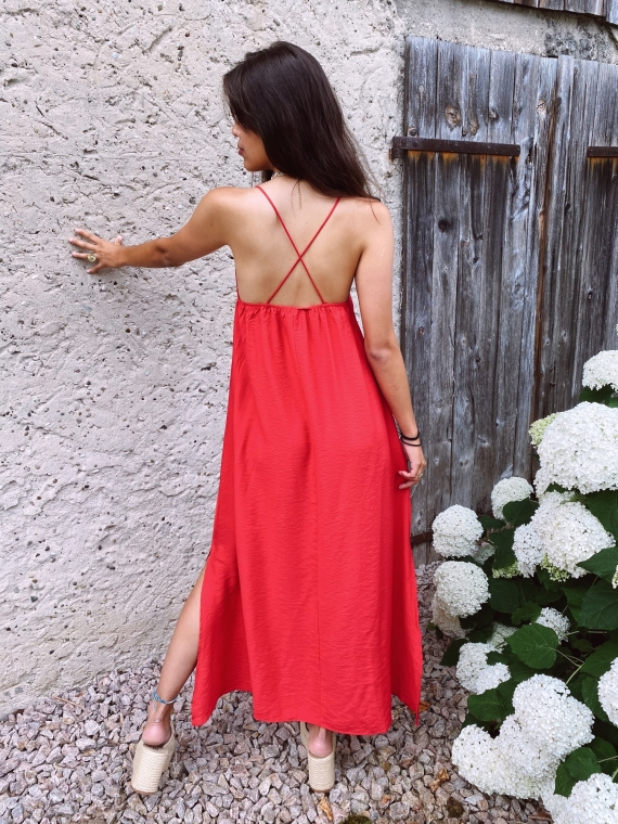 Robe dos croisé BLUM rouge