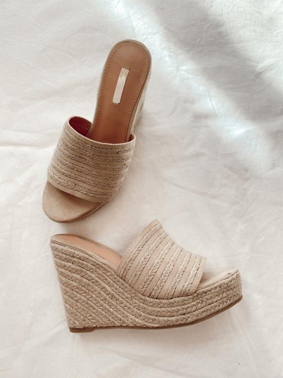 Sandales compensées en paille ARTSY