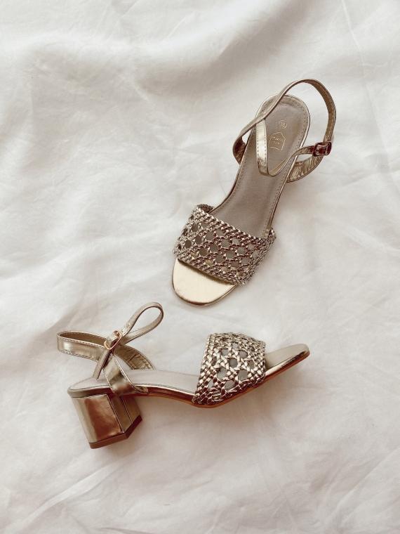 Sandales à talon CITIZEN dorées
