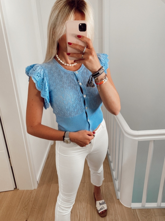Light blue ANOUK top