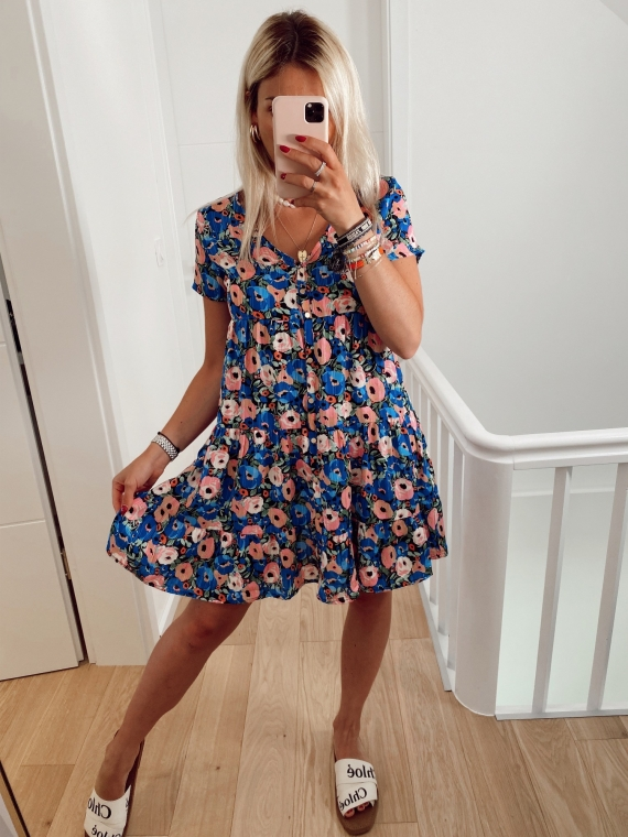 Blue CARAMBA floral dress