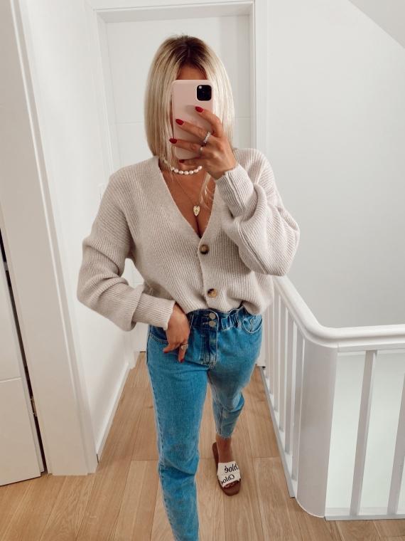 Beige ENDLESS soft waistcoat
