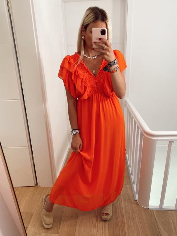 Orange TUESDAY long dress