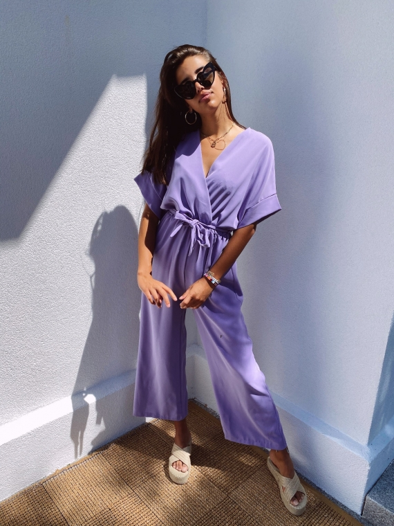 Lilac LEAVE fluid jumpsuit