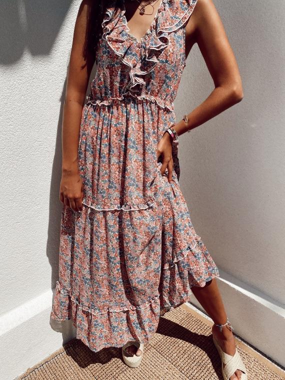 LÉONIE long flowery dress