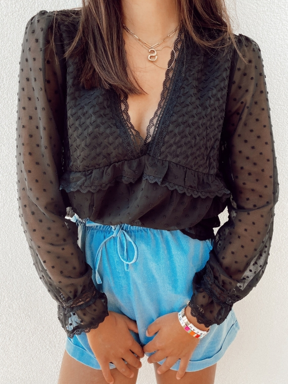 Black MILANO blouse