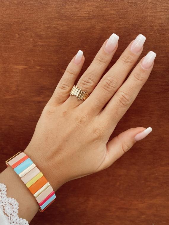 Bracelet grandes baguettes FAIRY multicolore