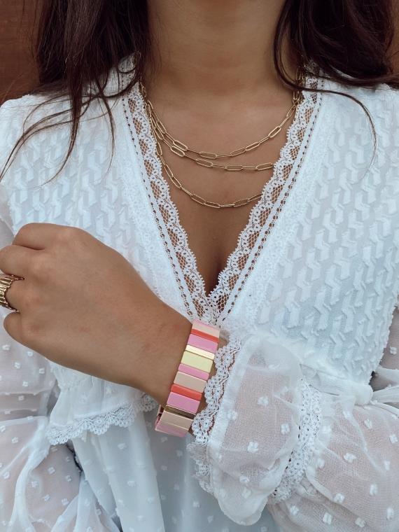Bracelet grandes baguettes FAIRY pastel
