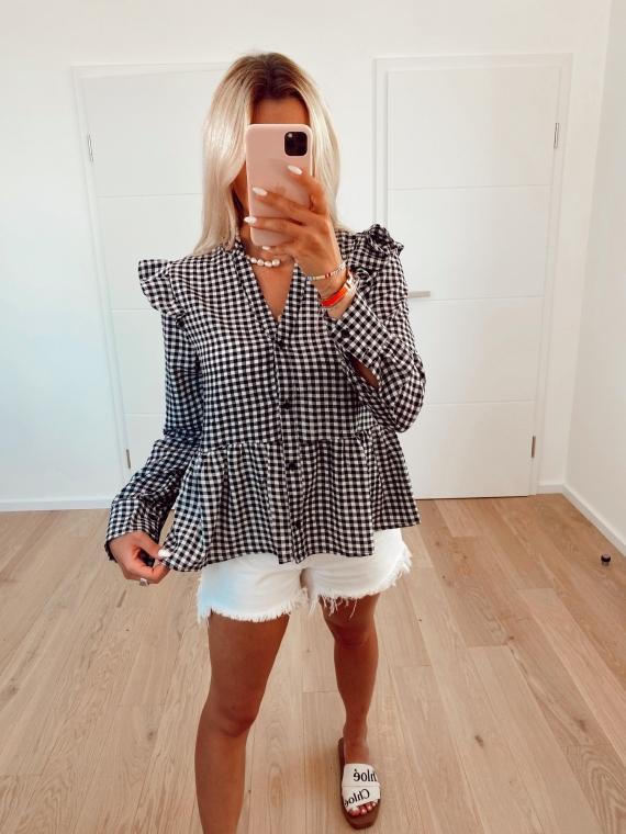 Gingham DEEP blouse