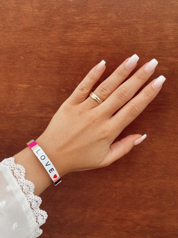 Multicolored LOVE bracelet