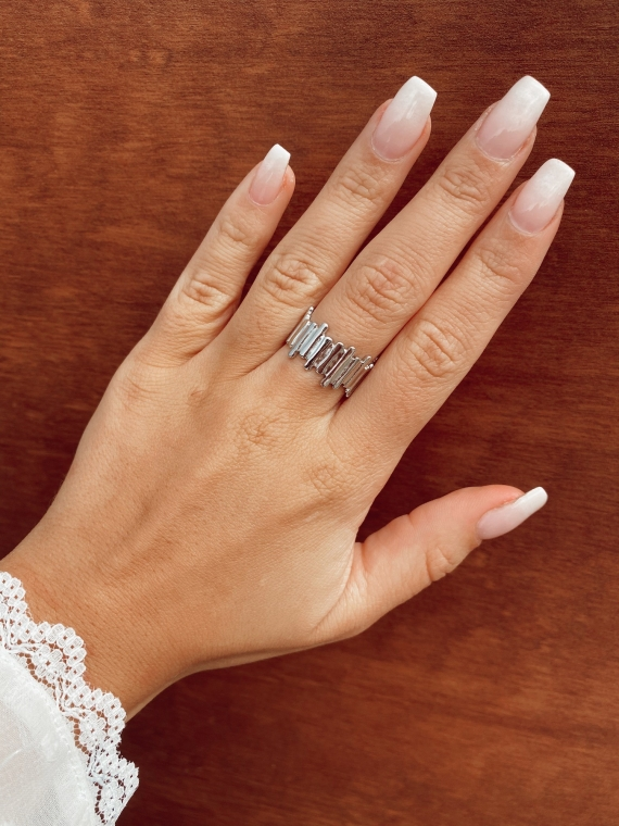 Silver BAGUETTES Rings