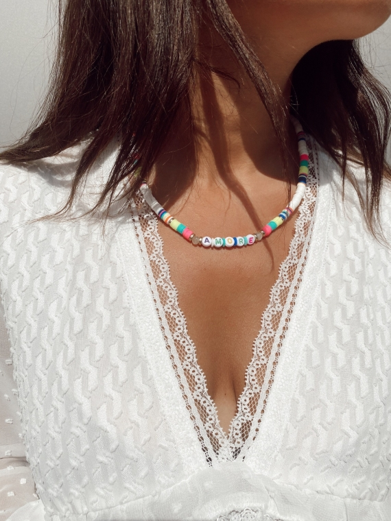 Collier perles AMORE