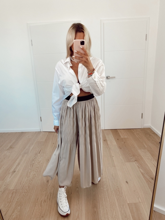 Beige CHOICE oversized pleated pants