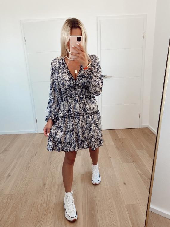 Blue LIES spotted dress