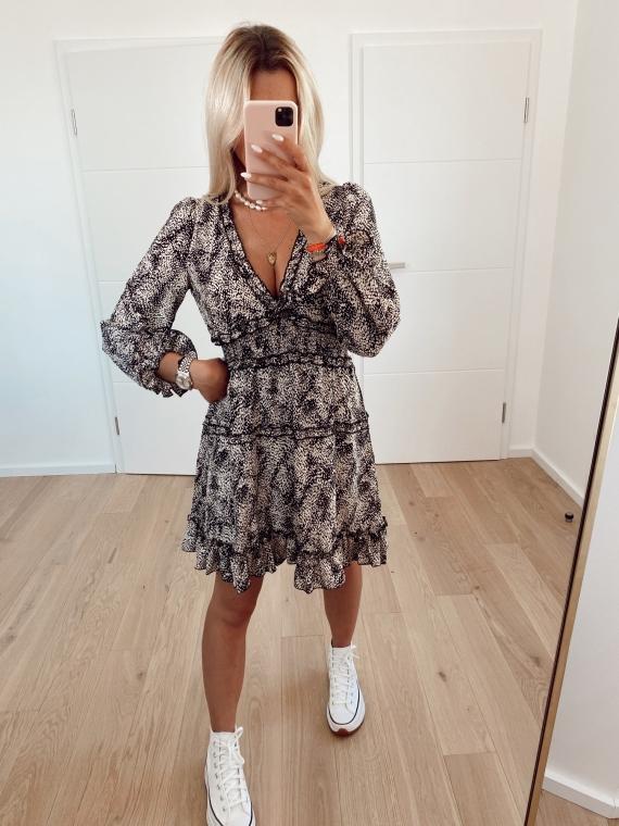 Black LIES spotted dress