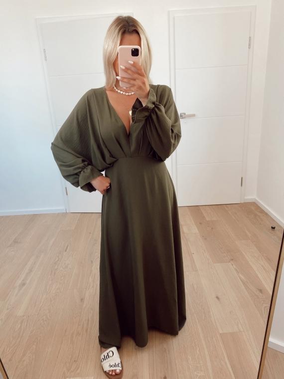 Khaki ENCHANTING long dress
