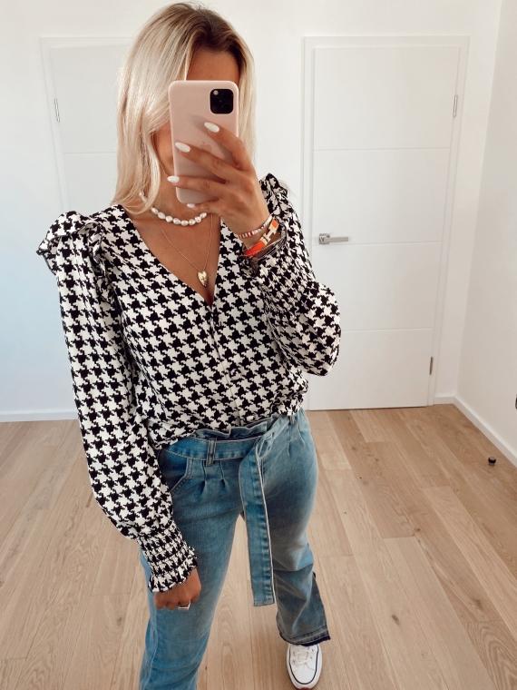 Houndstooth HARPER blouse