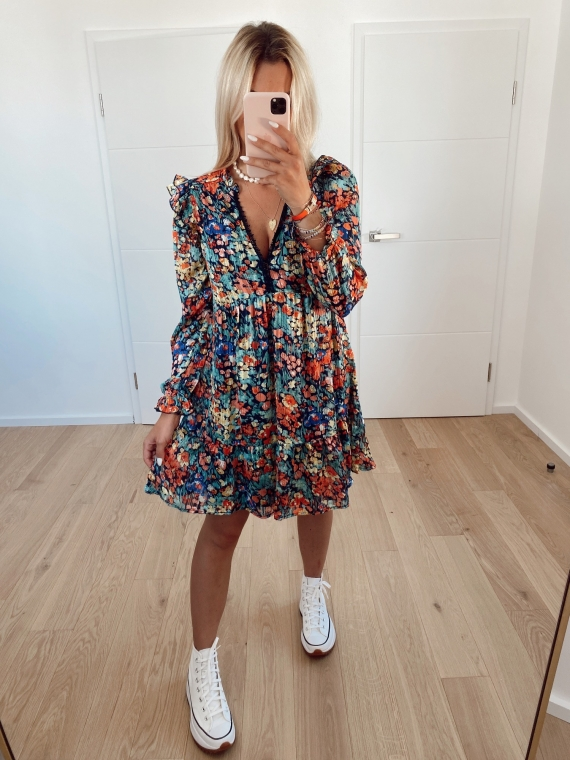 Robe fleurie SMITH bleue