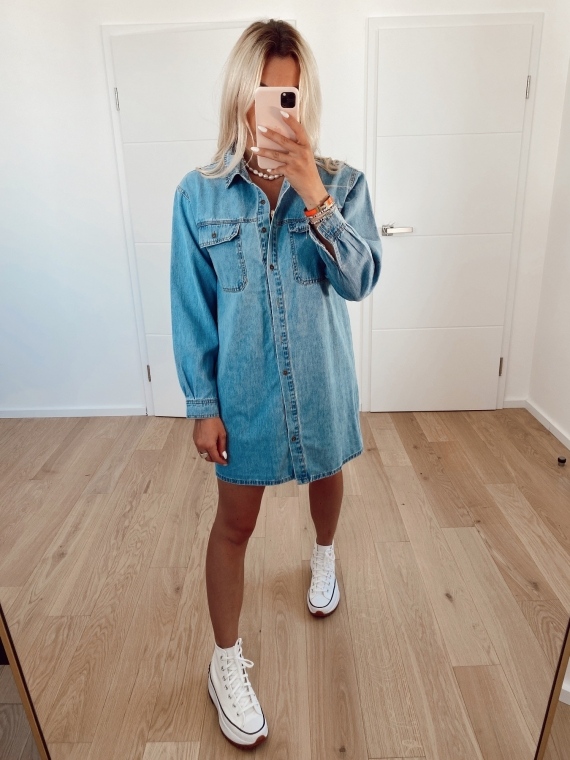 Robe chemise en jeans COLLINA