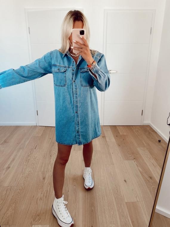 COLLINA jeans shirt dress