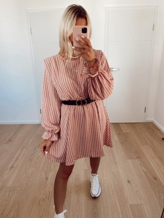 Pink MOVIE print dress
