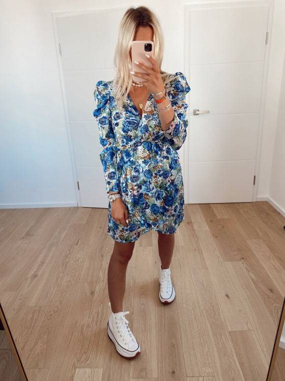 Blue MIMI floral dress