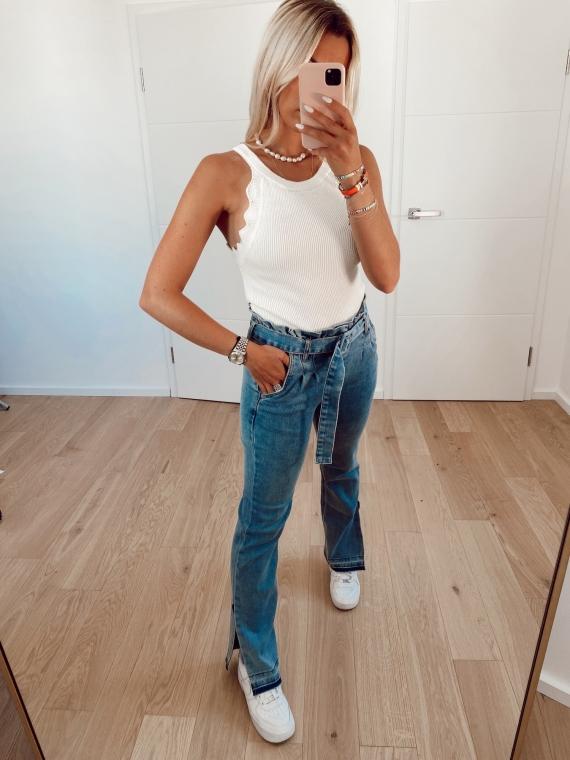 Jeans fendu AZZURO