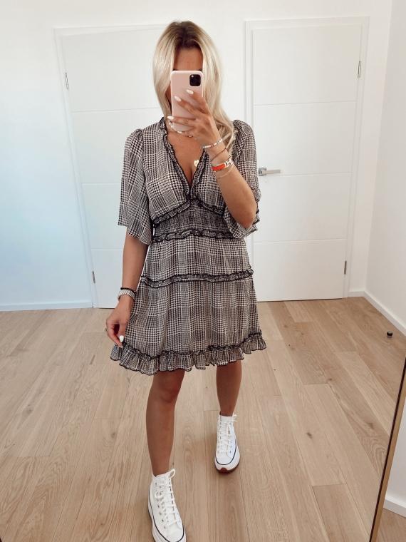 Gray CITY houndstooth dress