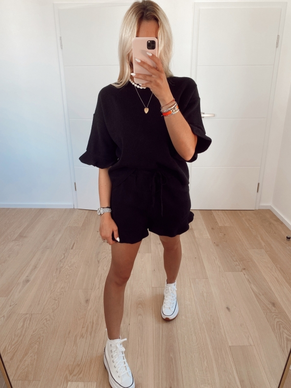 Ensemble short et t-shirt COMFY noir
