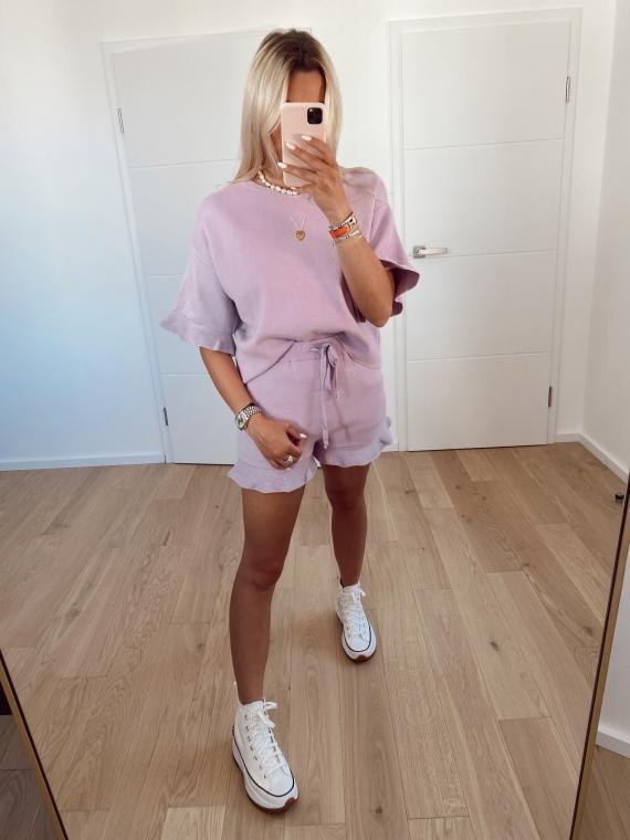Purple COMFY shorts and t-shirt set