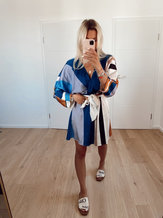 PRE COMMANDE Robe BLOSSOM bleue