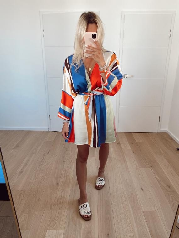 Multicolored BLOSSOM dress