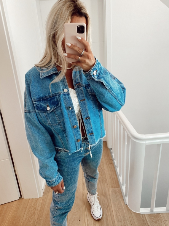 Veste en jeans oversize POPPY