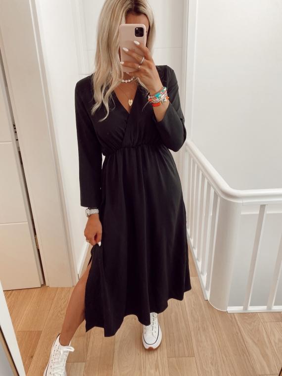 Black LEYLA fluid dress