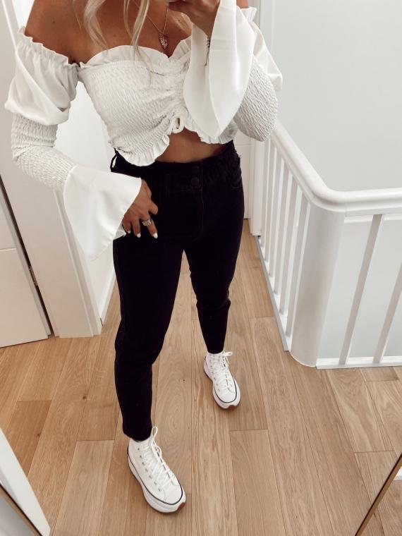 Black BLIND mum cut jeans